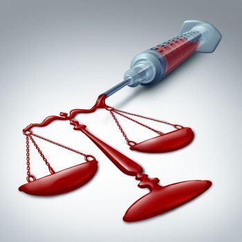 Medical law concept as a medicine symbol for malpractice or patient rights and a symbol for a hospital lawyer as a 3D illustration.