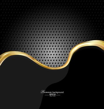 Abstract gold technology background for creative design. Abstract gold technology background