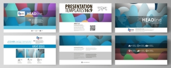 Business templates in HD format for presentation slides. Easy editable abstract layouts in flat design, vector illustration. Bright color pattern, colorful design with overlapping shapes forming abstract beautiful background.