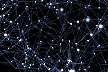 Abstract network. Abstract network background. 3D illustration
