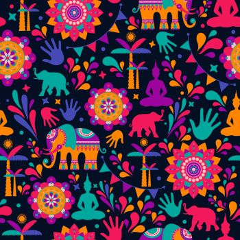 Happy holi vector elements seamless pattern design , Happy holi design.. Happy holi vector elements seamless pattern design , Happy holi design with colorful icon.