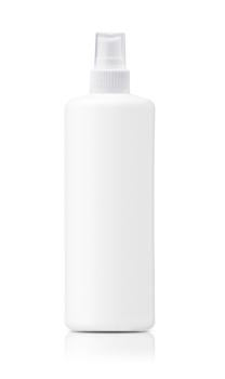 Spray Medicine Antiseptic Plastic Bottle on white background (with clipping work path). Spray can