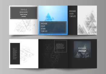 The black colored minimal vector illustration of editable layout. Modern creative covers design templates for trifold square brochure or flyer. The black colored minimal vector illustration of editable layout. Modern creative covers design templates for trifold square brochure or flyer.