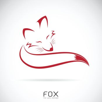 Vector of a red fox design on white background. Wild Animals. Easy editable layered vector illustration.