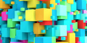 Colored Cubes Colorful Abstract Background Art. Colored Cubes Colorful Background