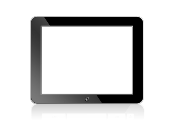 Black blank Digital LCD Frame isolated on white background.