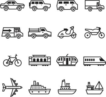 transportation set. transportation set vector art