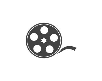 abstract film icon vector illustration template design