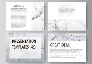 Compounds lines and dots. Big data visualization in minimal style. Graphic communication background. Set of business templates for presentation slides. Abstract vector layouts in flat design. Set of business templates for presentation slides. Easy editable abstract vector layouts in flat design. Compounds lines and dots. Big data visualization in minimal style. Graphic communication background.