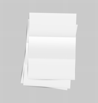 Illustration set empty paper sheet with shadows - vector