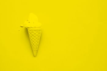 Sweet cone, pop colour or fashion background, Color filter