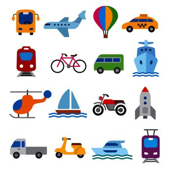 set of illustrations for concept icons of transport. transport icons set