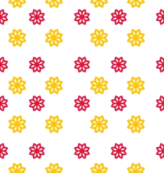 Illustration Seamless Texture with Flowers, Elegance Kid Pattern - Vector