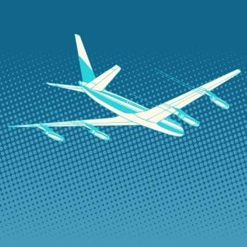 airplane flight travel tourism pop art retro style. Transportation for flights and trips. Technology and success. airplane flight travel tourism