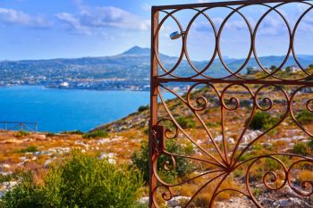 Javea also Xabia aerial view from Sant Antonio Cape in Alicante Spain