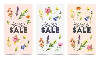 Set of spring flowers vector template for post, Stories, season sale, discounts, promotional, flyers and posters, apps, websites, printing material . Colorful and floral sale. Set of spring flowers vector template for post, Stories, season sale, discounts, promotional, flyers and posters, apps, websites, printing material . Colorful and floral sale badges