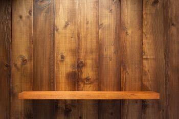wooden shelf at wall plank background texture