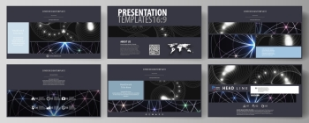 Business templates in HD format for presentation slides. Easy editable abstract vector layouts in flat design. Sacred geometry, glowing geometrical ornament. Mystical background.. Business templates in HD format for presentation slides. Easy editable abstract vector layouts in flat design. Sacred geometry, glowing geometrical ornament. Mystical background