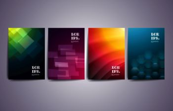 Set of abstract geometric  design  for brochure, banner, flyer and poster.