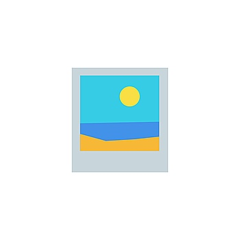 Polaroid photo picture from travel. Summer holiday beach, sea, and sun. Vector illustration