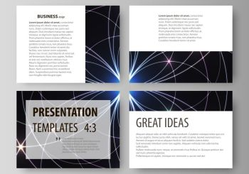 Set of business templates for presentation slides. Easy editable abstract vector layouts in flat design. Sacred geometry, glowing geometrical ornament. Mystical background. Set of business templates for presentation slides. Easy editable abstract vector layouts in flat design. Sacred geometry, glowing geometrical ornament. Mystical background.