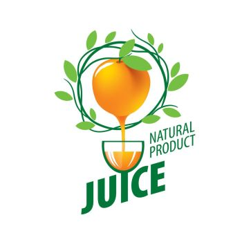 logo of fresh juice. vector icon fresh juice from natural products