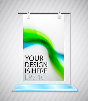 Vector promotional stand banner for your design